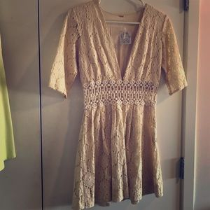 Free People ivory lace dress BRAND NEW!